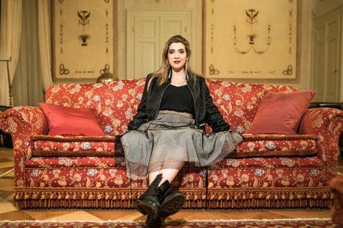 """Eleonora Mazzotti presentatrice del contest """"promuovi la tua musica"""" al Teatro Comunale di San Giovanni In Persiceto"""