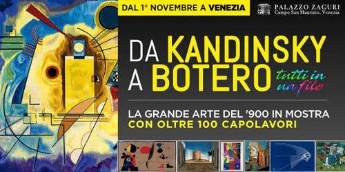 """""""Da Kandinsky a Botero. Tutti in un filo"""" dal 1° novembre a Palazzo Zaguri di Venezia"""