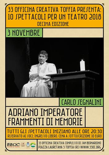 Adriano imperatore. Frammenti di memorie tratto dall'opera di Marguerite Yourcenar