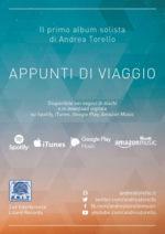 Appunti di viaggio: in uscita il primo album solista di Andrea Torello