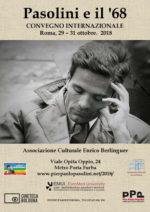 """""""Pasolini e il '68"""", un convegno internazionale al Centro Culturale Enrico Berlinguer"""