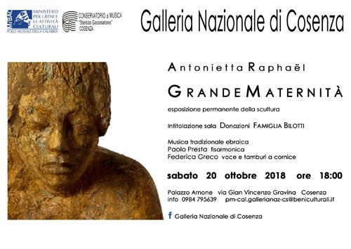 Grande Maternità, la scultura di Antonietta Raphaël alla Galleria Nazionale di Cosenza
