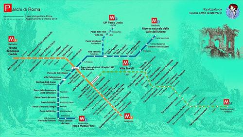 L'Ottobrata Romana Metro per Metro: mappa metropolitana dei parchi di Roma con Giulia Sotto la Metro