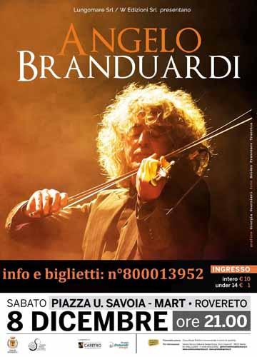 """Rovereto, concertone dell'Immacolata con Angelo Branduardi: parte dell'incasso andrà a favore di """"Calamità Trentino 2018"""""""