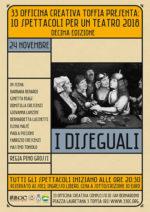 I diseguali, lo spettacolo segnalato a 33 Officina Creativa di Toffia