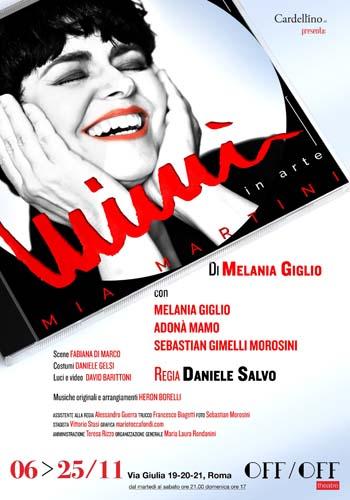 Mimì in arte Mia Martini di e con Melania Giglio all' OFF/OFF THEATRE di Roma