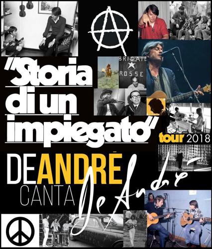 """De André Canta De André: venerdì 30 novembre parte da Novara il tour """"Storia di un impiegato"""" di Cristiano De André!"""