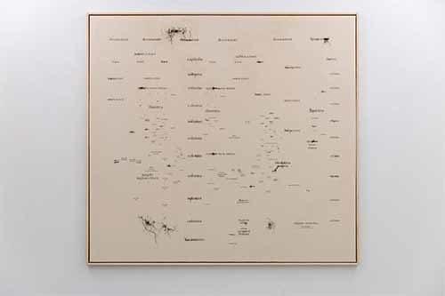 Opera al Nero di Serena Gamba alla Isolo 17 Gallery di Verona