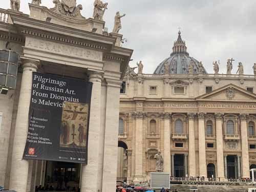 """Grande successo ai Musei Vaticani, Braccio di Carlo Magno, per l'evento """"VELINA, il tratto Russo. Dal Dionisio a Malevic"""""""