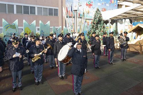 La Fanfara della Polizia di Stato al Bambino Gesù di Roma