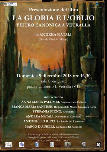 La gloria e l'oblio – Pietro Canonica a Vetralla, il libro di Andrea Natali