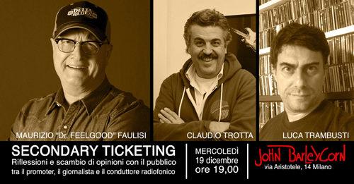 Secondary Ticketing, Dr. Feelgood ne parla con Claudio Trotta e Luca Trambusti al John Barleycorn di Milano