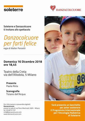 Soleterre e Danzacolcuore al Teatro della Creta di Milano con lo spettacolo Danzocolcuore per farti felice
