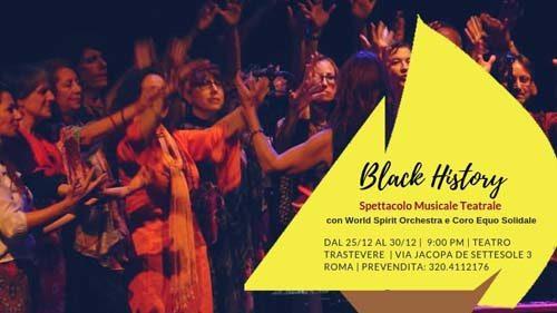 Mario Donatone & World Spirit Orchestra presentano Black History al Teatro Trastevere di Roma