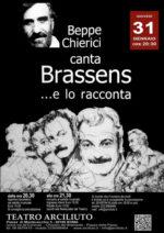 """""""Beppe Chierici canta Brassens… e lo racconta"""", il 31 gennaio al Teatro Arciliuto di Roma"""