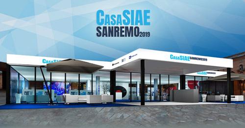CASA SIAE, party di inaugurazione alle ore 18.00 in Piazza Colombo (Sanremo)! Ecco il programma degli eventi di mercoledì