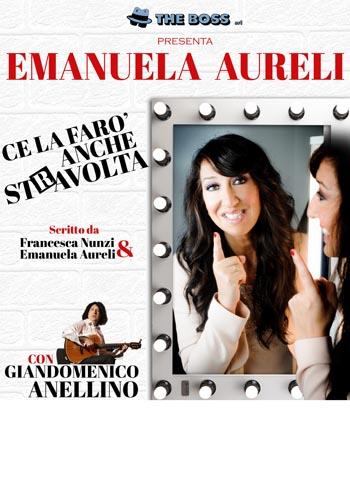 """Emanuela Aureli in """"Ce la farò anche stRavolta"""" al Teatro Roma"""