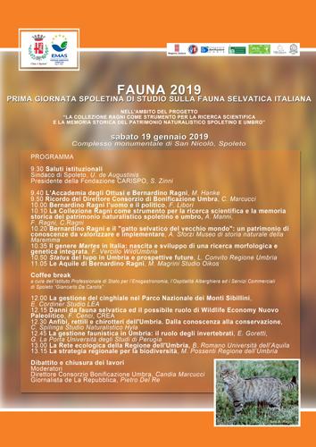 Fauna 2019. Prima giornata spoletina di studio sulla fauna selvatica italiana