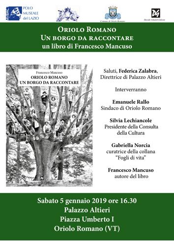 Oriolo Romano – Un borgo da raccontare, il libro di Francesco Mancuso