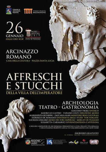 Museo in Mostra 2019. Affreschi e stucchi della Villa dell'Imperatore Traiano