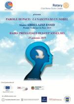 """Il Nobel per la pace Abdelaziz Essid interviene alla conferenza del Rotary Club Roma Giulio Cesare """"Parole di pace: la nascita di un Nobel"""""""