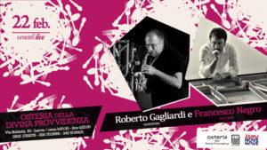 """Roberto Gagliardi e Francesco Negro per il """"Venerdì LIVE"""" dell'Osteria della divina provvidenza di Lecce"""