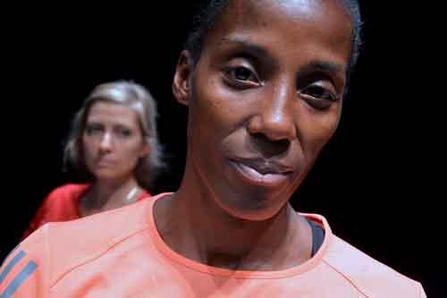 Fiona May e Luisa Cattaneo in Maratona di New York all'OFF/OFF Theatre di Roma