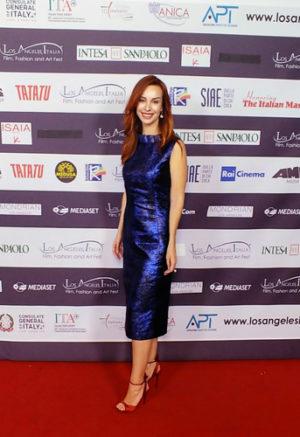 "L'attrice Gioia Libardoni ospite del Festival ""Los Angeles, Italia"" a Hollywood"