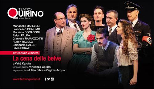 La cena delle belve, lo spettacolo segnalato al Teatro Quirino di Roma dal 19 febbraio al 3 marzo
