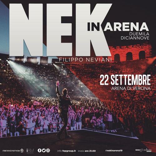"""NEK: il grande ritorno live all'Arena Di Verona. Nek è in gara al 69° Festival Di Sanremo con il brano """"Mi farò trovare pronto"""""""