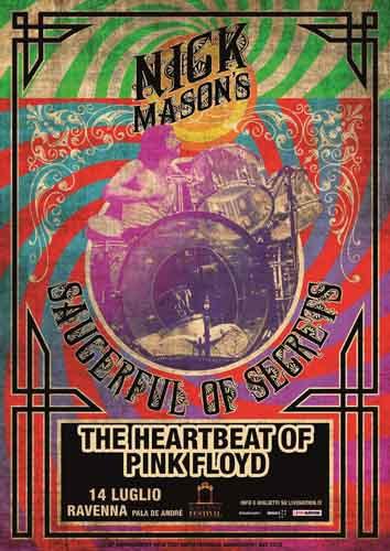 RaFestival 2019, al via le prevendite per Nick Mason¹s Saucerful of Secrets