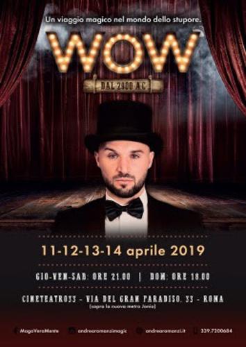 Andrea Romanzi – MagoVeramente in WOW al Cineteatro33 di Roma