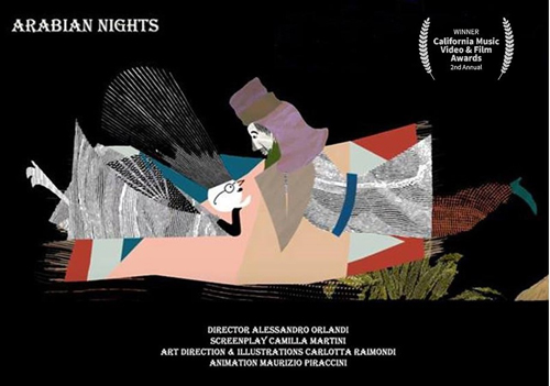 Il video Arabian Nights del cantautore Alessandro Orlandi trionfa al California Music Video & Film Awards 2019 nella sezione Best Animation