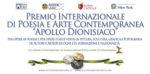 Il Premio Internazionale di Poesia e Arte Contemporanea Apollo dionisiaco invita alla celebrazione del senso della bellezza
