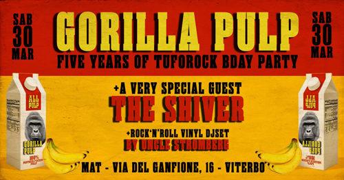 Buon 5 compleanno Gorilla Pulp