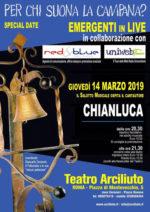 Chianluca in concerto al Teatro Arciliuto di Roma