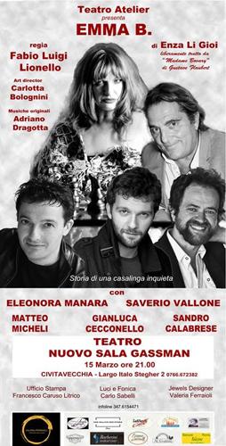 Emma B. in scena al Teatro Nuovo Sala Gassman di Civitavecchia