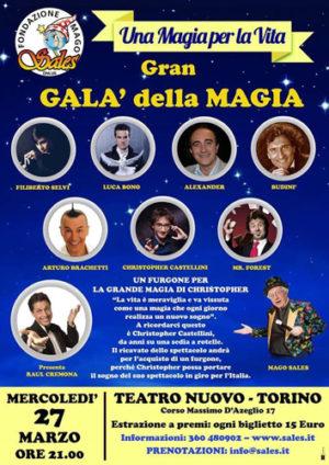 Il Gran Galà della Magia con Brachetti, Mister Forest, Raul Cremona, Luca Bono e tanti altri per donare un furgone al collega Christopher Castellini, lo Stephen Hawking della magia