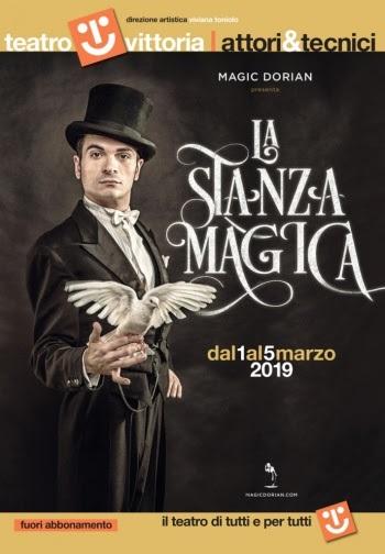 La stanza magica sostituisce lo spettacolo L'illusionista in calendario al Teatro Vittoria di Roma