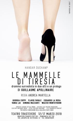Le Mammelle Di Tiresia, il dramma surrealista in due atti e un Prologo di Guillaume Apollinaire al Teatro Trastevere di Roma