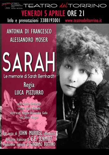 """Ritorna l'acclamato spettacolo """"Le memorie di Sarah Bernhardt"""" al teatro Pegaso di Ostia"""