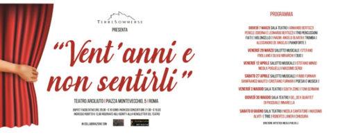 Vent'anni e non sentirli rassegna di jazz e canzone d'autore all'Arciliuto di Roma per festeggiare i vent'anni dell'etichetta romana Terre Sommerse