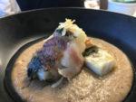 """Saltimbocca di mussillo su cremoso di tarallo """"nzogna e pepe"""" della passeggiata a Mergellina"""