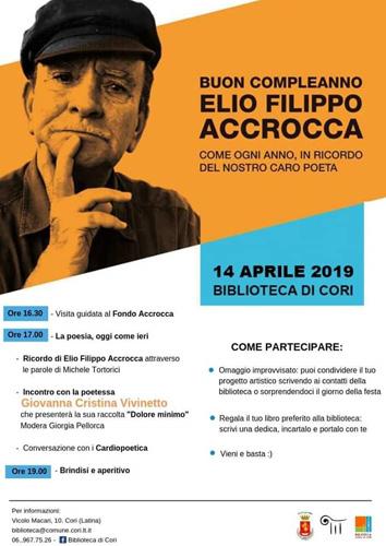 Buon Compleanno Elio Filippo Accrocca