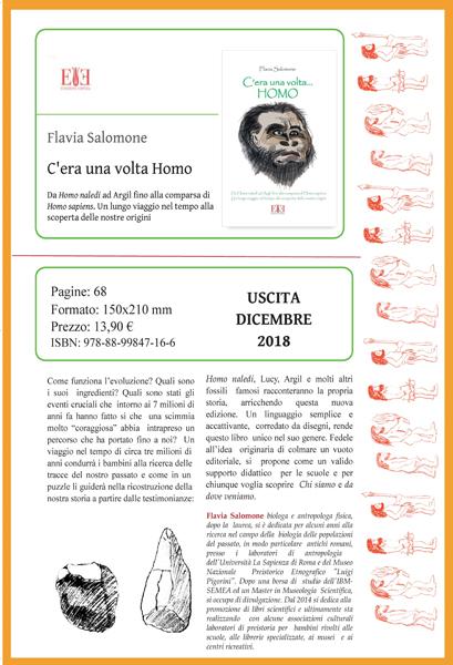 """""""C'era una volta Homo"""" Torna in una nuovissima edizione il fortunato e attesissimo libro di Flavia Salomone"""