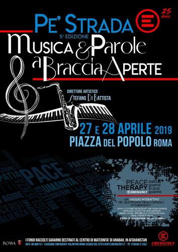 """Emergency torna """"Pe' Strada"""" e festeggia il suo 25° anniversario a Piazza del Popolo a Roma con Stefano Di Battista e il meglio del Jazz Italiano"""