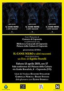 Il Cane Nero e altri racconti, il libro di Egidio Storelli. La presentazione al Palazzo della Cultura di Caprarola