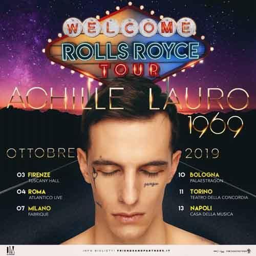 Achille Lauro, rinviate a ottobre le 6 date del tour nei club