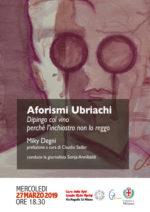 """Per la prima volta in Liguria Miky Degni a Cervo. Prosegue così il tour """"per Amor di Vino"""" dell'artista milanese"""