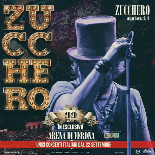 """Zucchero """"Sugar"""" Fornaciari: nel 2020 il ritorno live con 10 concerti in esclusiva all'Arena di Verona"""